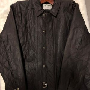 Mens Orvis Quilted Leather Jacket